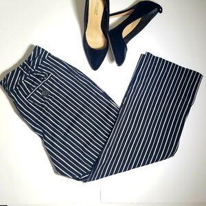 Loft 💫 Cropped striped Pants Women's